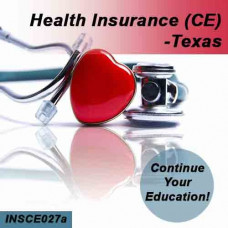 Texas: 8 hrs CE Health Insurance